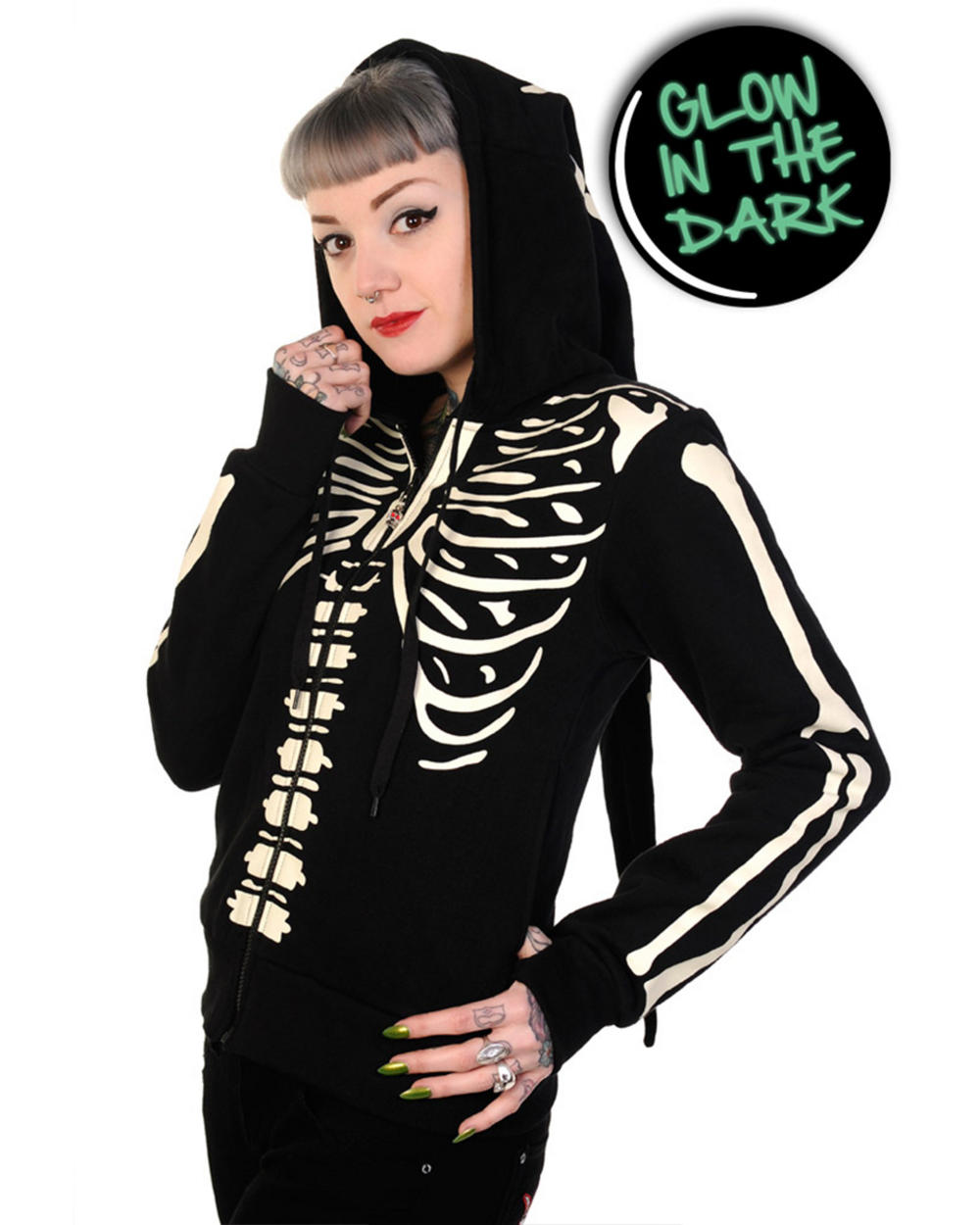 women s skeleton hoodie quick overview long skeleton hoodie made of