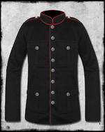 View Item SDL COMMANDER MILITARY JACKET - BLACK & RED