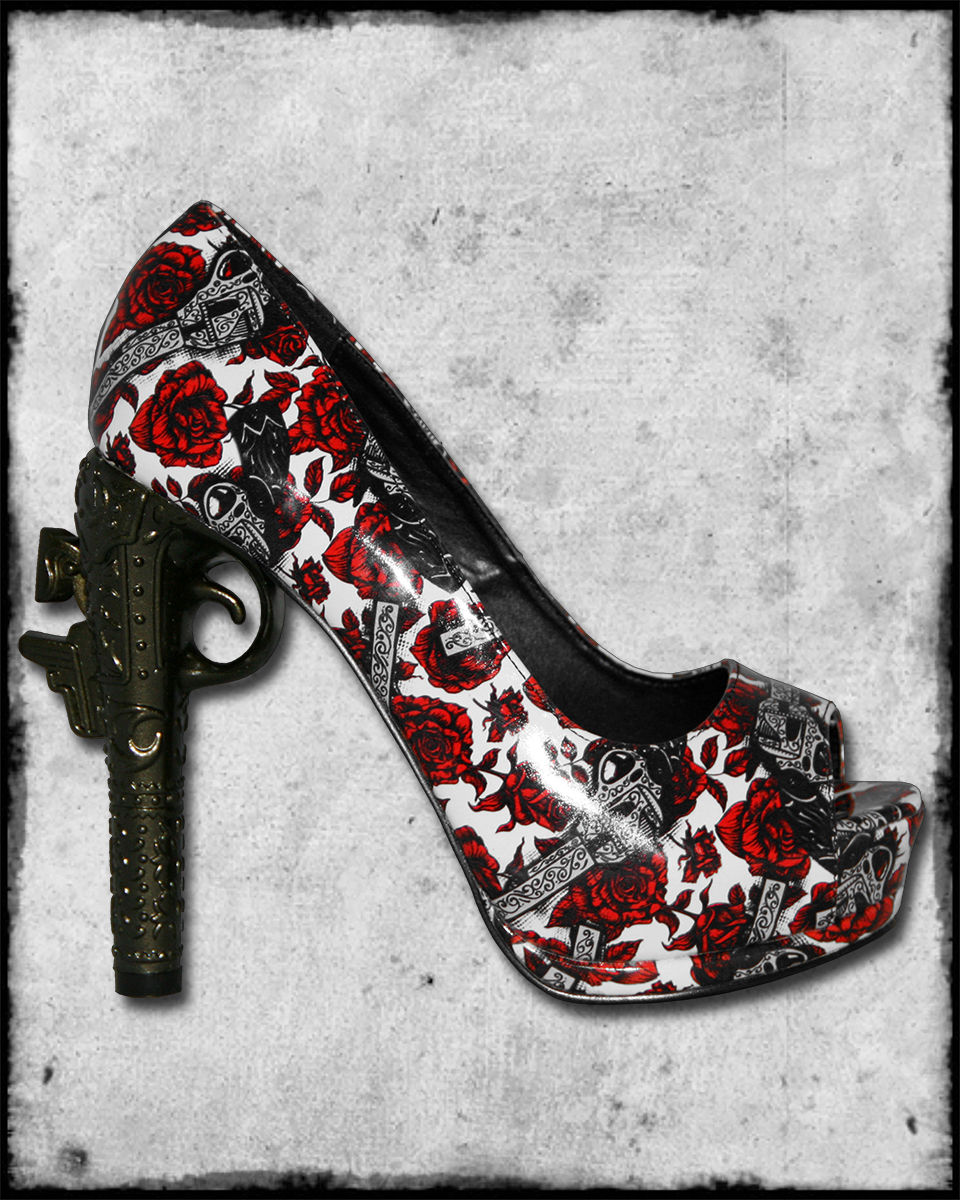 Gun Shaped Heel Shoes