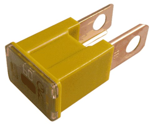 Single SLOW BLOW PAL FUSE - MALE YELLOW 60A
