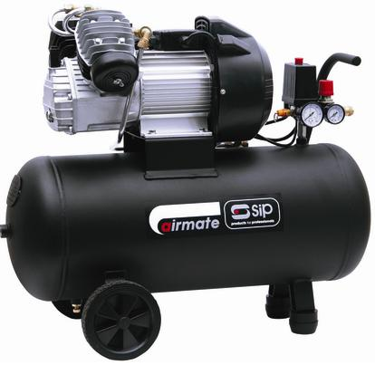 S.I.P (SIP) 06242 AIRMATE TN3.0/50-D COMPRESSOR 3 HP HORSE POWER 230V IN SILVER Enlarged Preview
