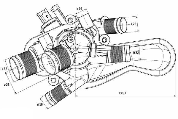 thermostat  u0026 housing for peugeot 308