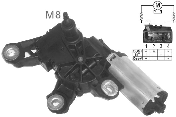 Vw polo 1999 2001 6n2 valeo wiper motor rear windscreen for 2001 vw polo electric window problems
