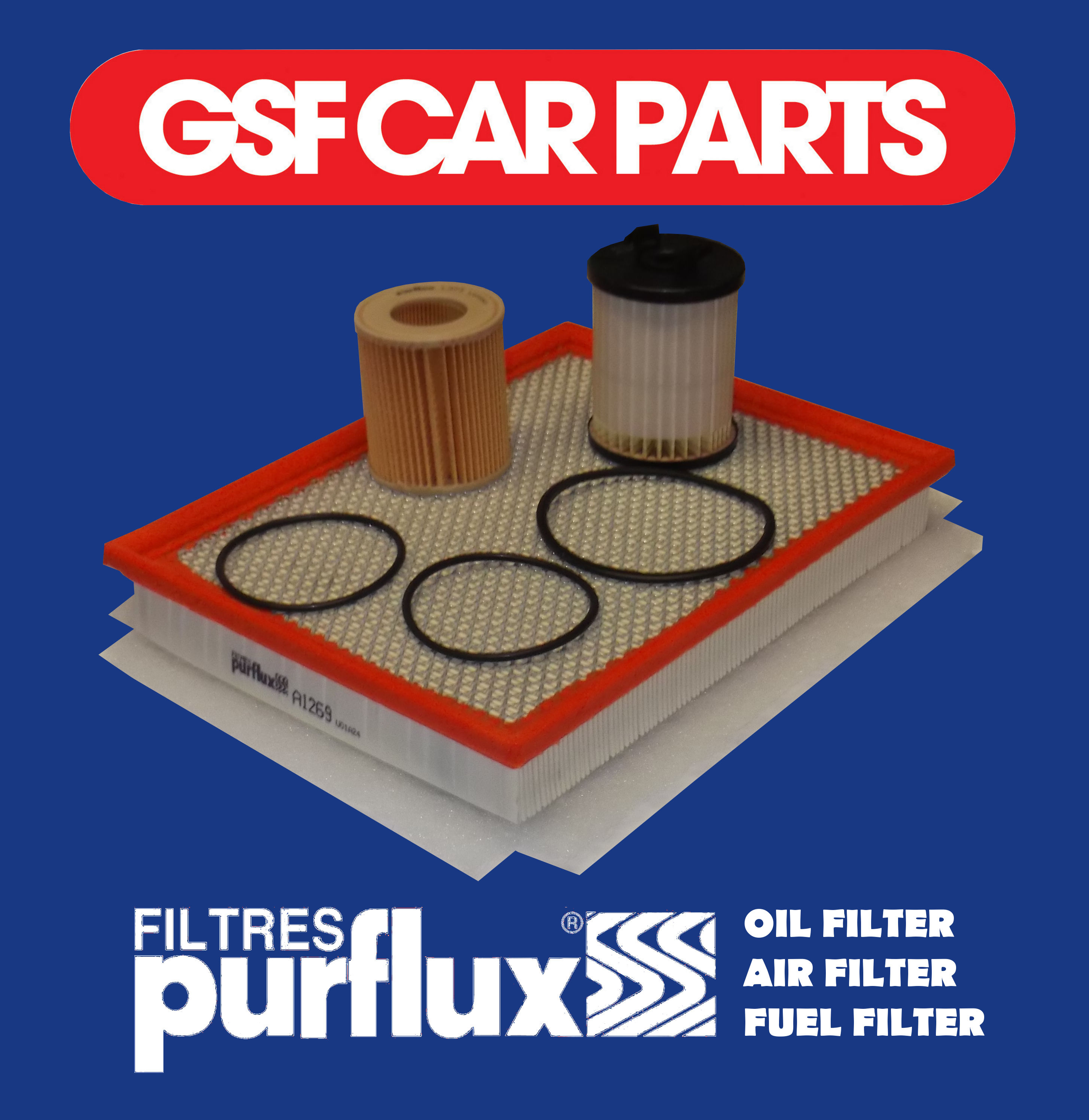OEM SERVICE KIT: OIL, AIR & FUEL FILTER VAUXHALL ZAFIRA 1.9 CDTI DIESEL 05-