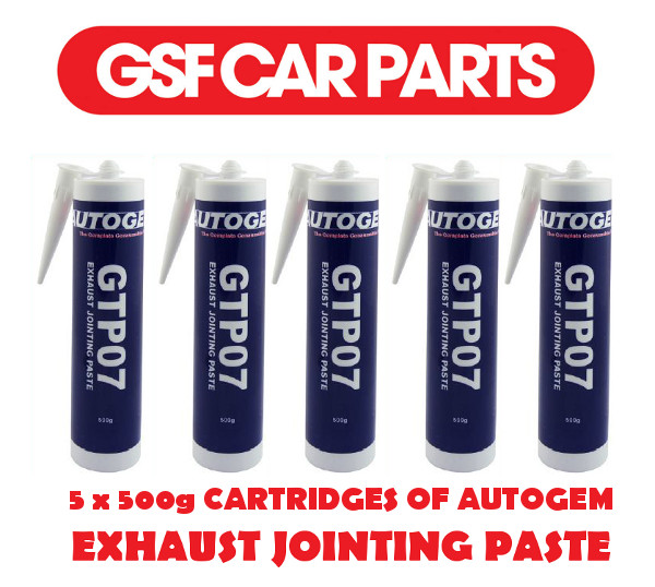 5 x 500g CARTRIDGE AUTOGEM GTP07 EXHAUST ASSEMBLY/JOINTING PASTE