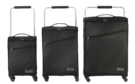 "18"",22"" & 26"" Zframe Super Lightweight Black Set Of Suitcases"