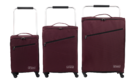"18"",22"" & 26"" ZFrame Super Lightweight Aubergine Set Of Suitcases"