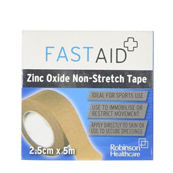 Robinson Healthcare 4483 Fast Aid Zinc Oxide Non-Stretch Tape, 2.5 cm x 5 cm