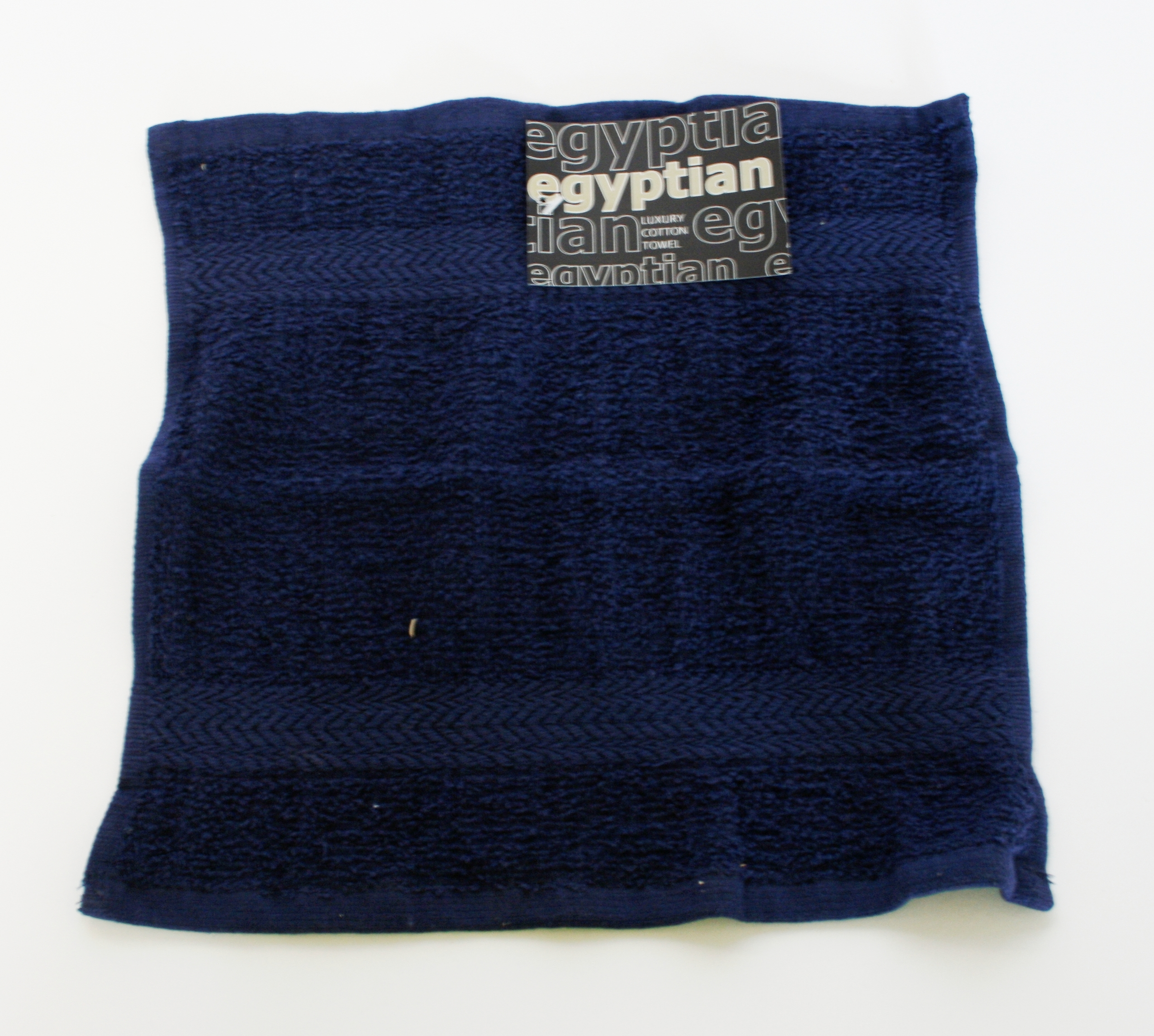 Egyptian 100 % Cotton Face Towel - Navy 30Cm X 30Cm Enlarged Preview