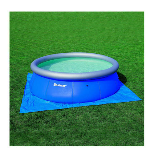 Bestway pool ground cloth blue 13 ft garden for Garden pool accessories