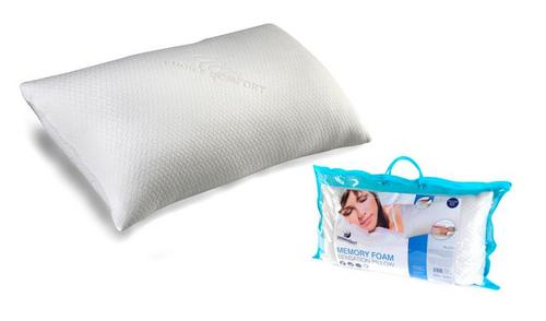 Dreamtime MFDT82099 Memory Foam Choice Comfort Pillow, Cotton, White