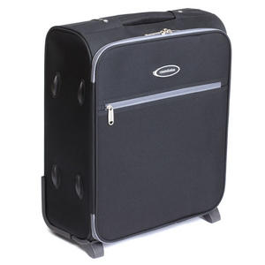 "Constellation 50x40x20cm Cabin Hand Luggage - 18"" Black w/Grey Trim"
