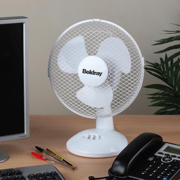 4 Inch Desk Fan : Beldray quot desk fan white