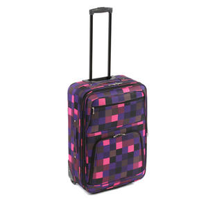 "Constellation Pink Square Suitcase, 18"", Pink/Purple"