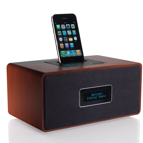 intempo retro fm radio with ipod dock docking station. Black Bedroom Furniture Sets. Home Design Ideas