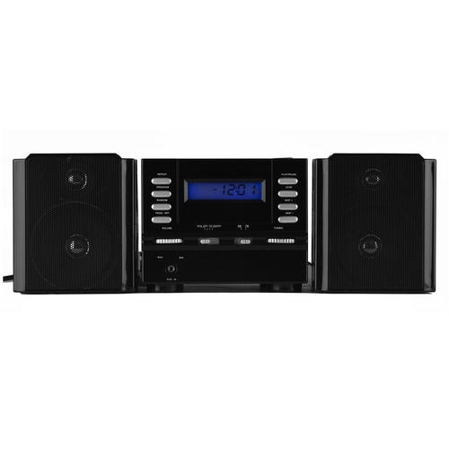 intempo black micro hi fi cd player fm radio digital clock speakers no1brands4you. Black Bedroom Furniture Sets. Home Design Ideas