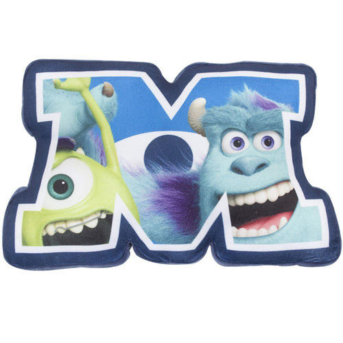 Disney Monsters Inc University Shaped Plush Cushion