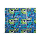 Disney Monsters Inc University Rotary Fleece Blanket 120 x 150cm Thumbnail 1