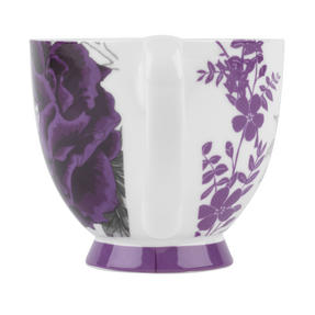 Portobello KB246615 Footed Peony Purple Fine Bone China Mug Thumbnail 3