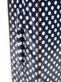 "Constellation Suitcase Travel Trolley, 24"", Navy Polka Dot Thumbnail 2"
