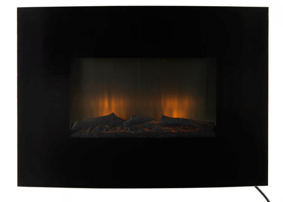 Beldray Parma Curved Black Log Effect Wall Fire