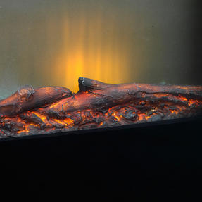 Beldray EH0815 Parma Curved Black Log Effect Wall Fire Thumbnail 3