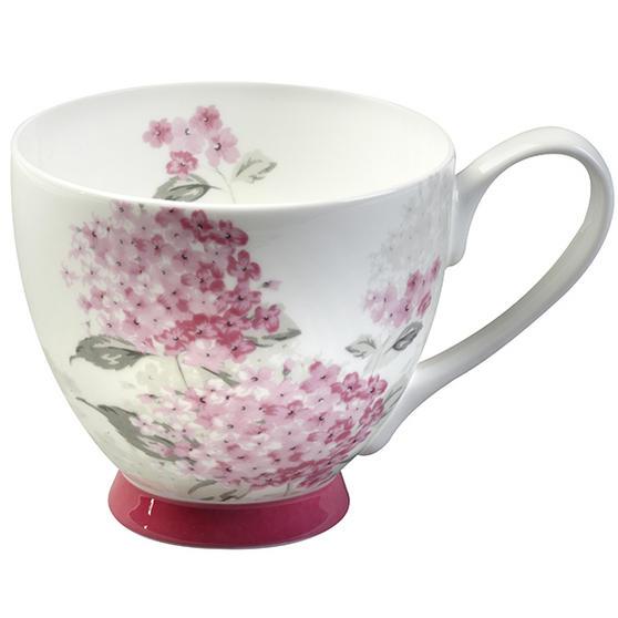 Portobello Footed Ami Pink Fine Bone China Mug