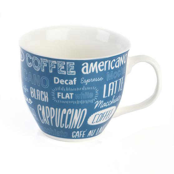 Cambridge CM03612 Oxford Coffee Shop Blue Fine China Mug