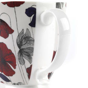Cambridge CM03622 Kensington Fraya Red Fine China Mug Thumbnail 4