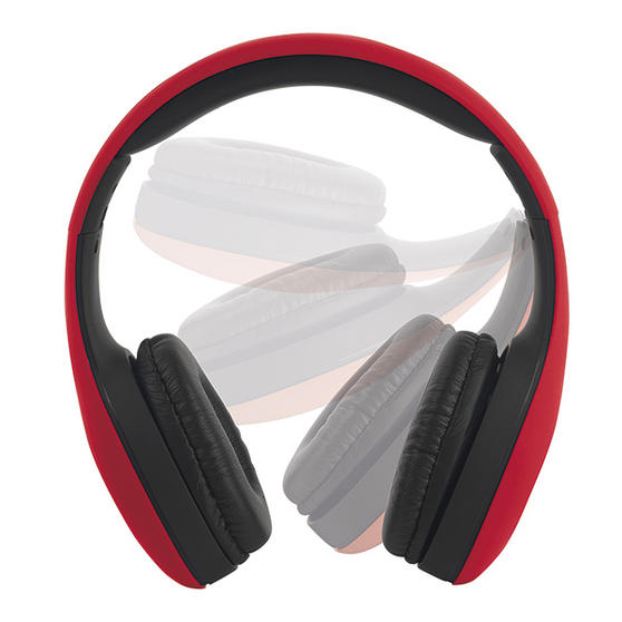Intempo Red Foldable Over Ear Headphones With Rubber Finish