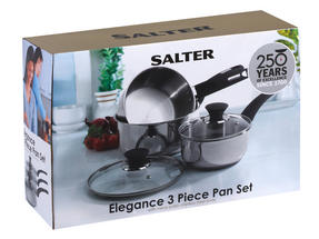 Salter Stainless Steel Elegance 3 Piece Pan Set Thumbnail 4