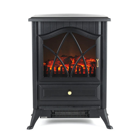 beldray free standing electric stove log flame effect. Black Bedroom Furniture Sets. Home Design Ideas