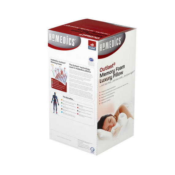 Homemedics Outlast 50d Memory Foam Pillow 70cm X 40cm X