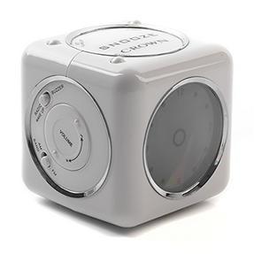 Crown CRA230W Cube Radio Alarm Clock, White