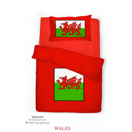 Single Bed Welsh Dragon Duvet / Quilt Cover Bedding Set