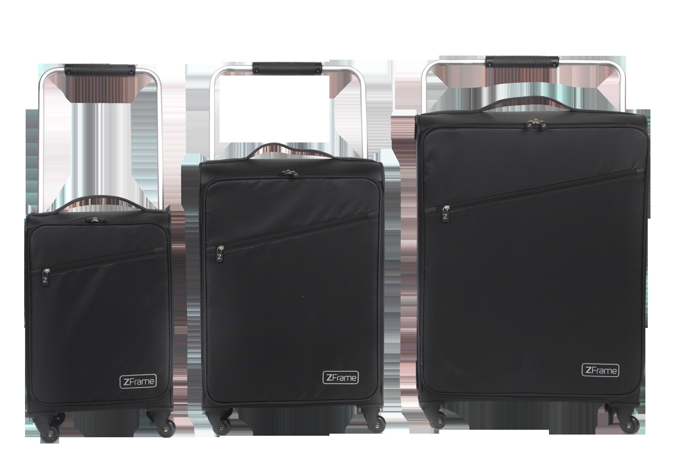 zframe super lightweight suitcase 22 black zframe. Black Bedroom Furniture Sets. Home Design Ideas