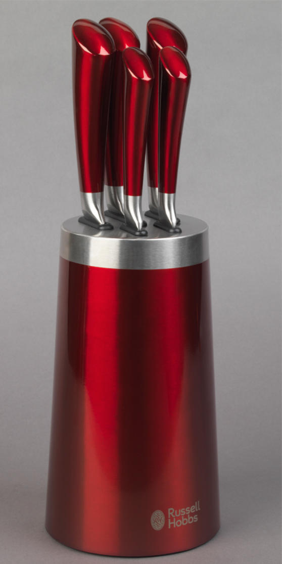 Russell Hobbs Heritage Romano Red 5 Piece Kitchen Knife