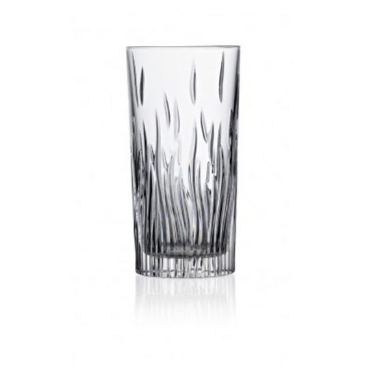 RCR Italian Manufactured Crystal Fire High Ball Glasses Set of 6