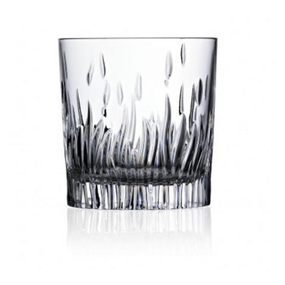 RCR Italian Manufactured Crystal Fire Whiskey Glasses Set of 6