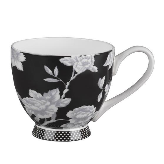 Portobello CM03398 Sandringham Regency Black Fine Bone China Mug