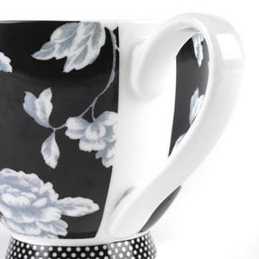 Portobello CM03398 Sandringham Regency Black Fine Bone China Mug Thumbnail 4