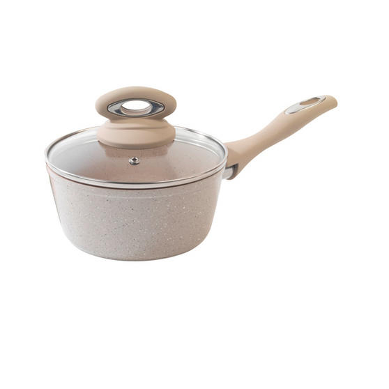 Salter Marble Collection 16cm Saucepan Sand