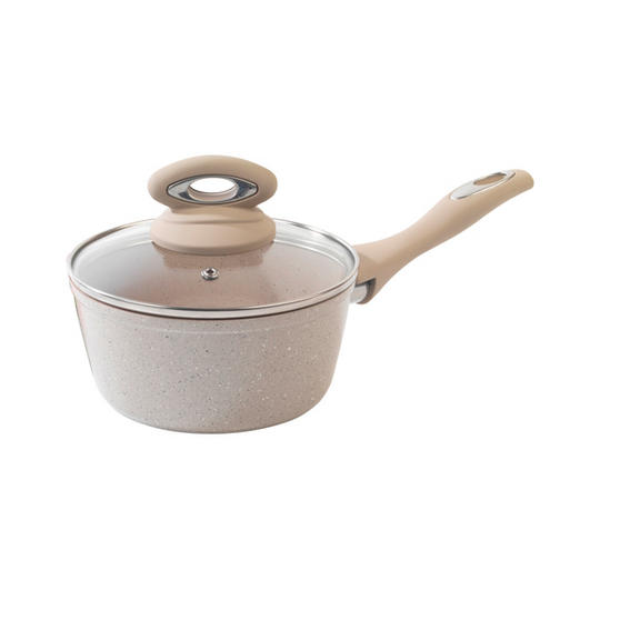Salter Marble Collection 18cm Saucepan Sand