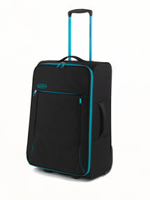 "Constellation Superlite Suitcase, 24"", Black/Turquoise"