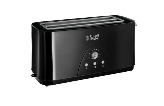 russell hobbs essentials black 4 slice long toaster 20901 kettles toasters no1brands4you. Black Bedroom Furniture Sets. Home Design Ideas