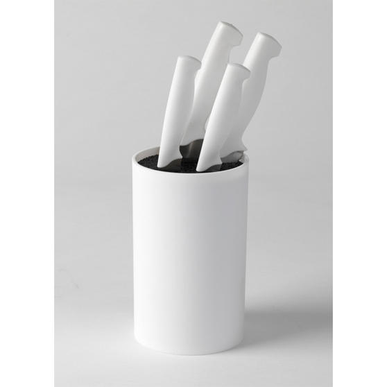 White Kitchen Knife Set: Salter Pure White Belmont 4 Piece Knife Set With Knife