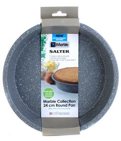 Salter BW02777G Marble Collection Carbon Steel Round Baking Pan, 24 cm, Grey Thumbnail 3