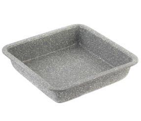 Salter BW02780G Marble Collection Carbon Steel Square Baking Pan, 23 cm, Grey