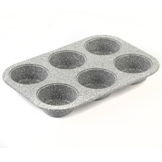 Salter Everest Grey Marble Coated 6 Muffin Tray & 12 Muffin Tray Set
