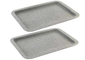 Salter Everest 38cm Grey Marble Coated Baking Tray x 2 Thumbnail 1